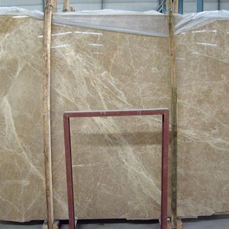 Professional Spain Light Emperador Marble Slab , Large Marble Wall Tiles