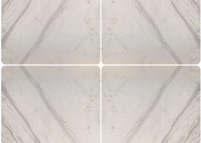 Polished Mach Greece Volakas White Marble Tile 60x60 Standard Or Customized Size